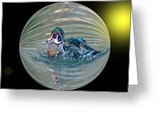 Duck In A Bubble  Greeting Card