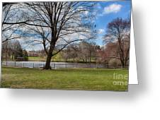 Duck Pond Haverford College Greeting Card