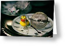 Duck The Hour Greeting Card