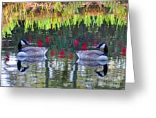 Duckland Pond Reflections Greeting Card
