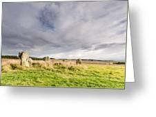 Duddo Stone Circle Greeting Card