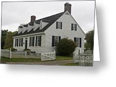 Dudley Diggs House Yorktown Greeting Card