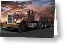 Duel Truck With Trailer Greeting Card by Stuart Swartz