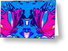Dueling Butterflies Greeting Card