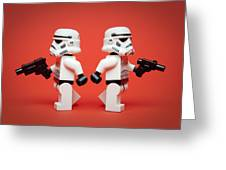 Dueling Troopers Greeting Card