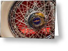 Duesenberg Wheel Greeting Card