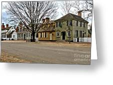 Duke Of Gloucester Street In Williamsburg Greeting Card