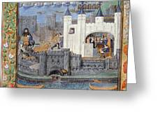 Duke Of Orleans, Tower Of London, 1430s Greeting Card