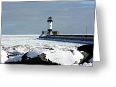 Duluth Harbor Lighthouse Greeting Card