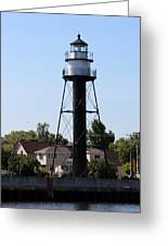 Duluth Harbor South Breakwater Inner Lighthouse Greeting Card
