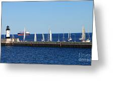 Duluth Mn Harbor Greeting Card
