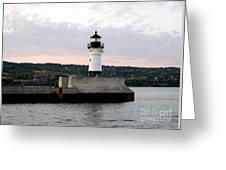 Duluth Mn Lighthouse Skyline Greeting Card