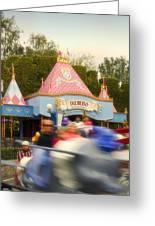Dumbo Flying Elephants Fantasyland Signage Disneyland 02 Greeting Card