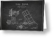 Dump Truck Patent Drawing From 1934 Greeting Card