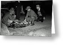 Dumping Whiskey In Mississippi 1951 Greeting Card