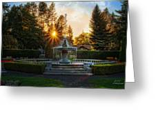 Duncan Gardens Water Fountain Greeting Card by Dan Quam