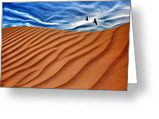 Dune Raven Sky Greeting Card