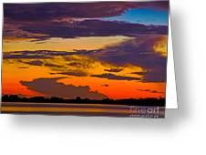 Dunedin Causeway Sunset Greeting Card