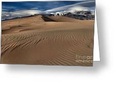 Dunes Ripples And Clouds Greeting Card
