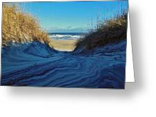 Dunes Sand Art By Mother Nature 2/08 Greeting Card