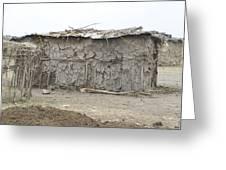 Dung Huts Of The Masai Greeting Card