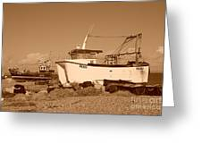 Dungeness Fishing Boats Greeting Card