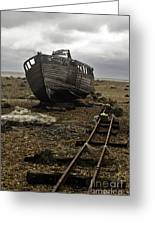 Dungeness Greeting Card by Lesley Rigg