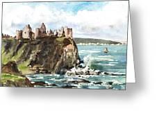 Dunluce Castle Antrim N I Greeting Card