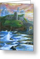 Dunscaith Castle - Shadows Of The Past Greeting Card