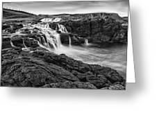Dunseverick Waterfall Greeting Card