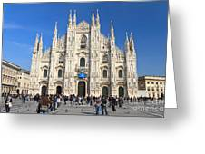 Duomo In Milano. Italy Greeting Card by Antonio Scarpi