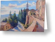 Duomo Pienza Greeting Card