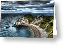 Durdle Door Hdr Greeting Card