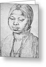 Durer Slave Woman, 1521 Greeting Card