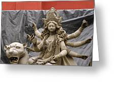 Durga In Kumartuli Greeting Card