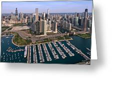 Dusable Harbor Chicago Greeting Card