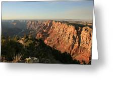 Dusk At The Canyon Greeting Card