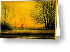 Dusk At The Refuge Greeting Card