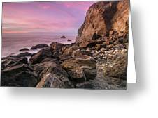 Dusk Falls Over Patrick's Point Greeting Card