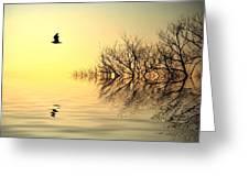 Dusk Flight Greeting Card by Sharon Lisa Clarke