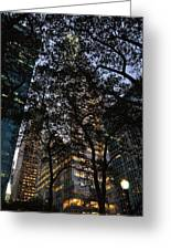 Dusk In Bryant Park Greeting Card by Sherri Quick