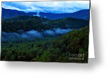 Dusk In The Smoky Mountains   Greeting Card