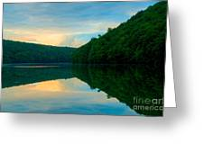 Dusk On Crescent Lake Greeting Card
