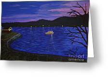 Dusk On Puget Sound Greeting Card