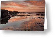 Dusk On The North Jetty Greeting Card