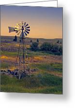 Dusk On The Prairie Greeting Card