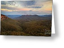 Dusk Over Mount Solitary Greeting Card