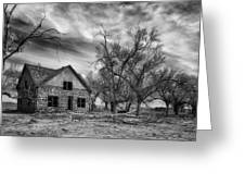 Dust Bowl Era Farm House Greeting Card