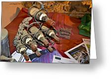 Dust Covered Wine Bottles Greeting Card