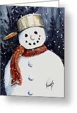 Dustie's Snowman Greeting Card